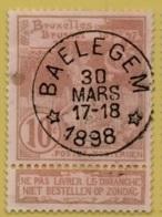 +MW-4513     *   BAELEGEM   *   OCB 72  Sterstempel     COBA   + 15      ZELDZAAM OP DEZE UITGIFTE - 1894-1896 Expositions