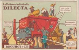 CPA  PUBLICITAIRE  LA BATTEUSE INDIVIDUELLE DILECTA - Tracteurs