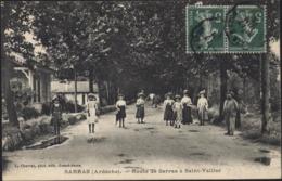 CPA Sarras Ardèche 07 Route Sarras à St Saint Vallier L Charvat Grand Serre Ambulant La Voulte à Lyon 1915 - France