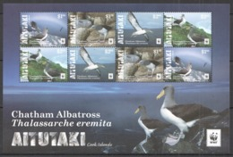 A665 2016 AITUTAKI WWF FAUNA BIRDS CHATHAM ALBATROSS !!! MICHEL 26 EURO !!! 1SH MNH - W.W.F.