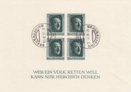 Deutsches Reich, Block 8 Gestempelt BRAUNAU - Deutschland