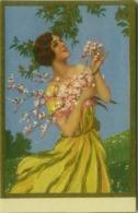 BUSI SIGNED 1910s POSTCARD - WOMAN WITH FLOWERS - EDIT DEGAMI 3585 (BG536) - Busi, Adolfo