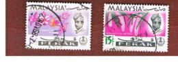 MALESIA: PERAK (MALAYSIA) -  SG 166.168  -  1965  FLOWERS  - USED ° - Malesia (1964-...)