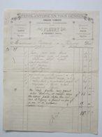 FERBLANTERIE, ZINGUERIE, PLOMBERIE, POMPES, FONTAINES - FLEURY à Prémery (58) Facture Entête Du 9/03/1903 - Old Professions