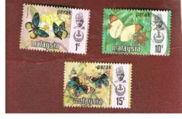 MALESIA: PERAK (MALAYSIA) -  SG 172.177  -  1971  BUTTERFLIES  - USED ° - Malesia (1964-...)