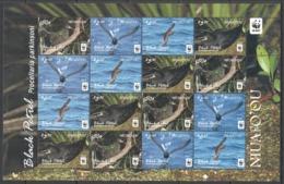 A676 2016 NIUAFO'OU WWF FAUNA BIRDS BLACK PETREL !!! MICHEL 32 EURO !!! 1SH MNH - W.W.F.