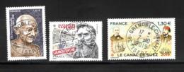 France  2019.Gandhy/Varenne/Canal De Suez.Cachet Rond.Gomme D'origine - Frankreich