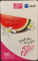 Mobilecard Thailand - AIS  - Obst,Früchte,fruits - Blüten - Wassermelone (2) - Alimentazioni