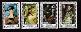 ANGUILLA    1977    400th  Birth  Centenary  Of  Rubens    Set  Of  4    MNH - Anguilla (1968-...)