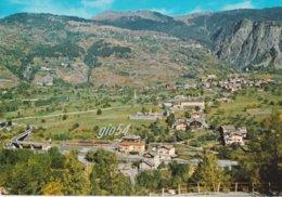 Aosta La Salle Panorama Nuova Superstrada E Stazione Ferroviaria Treno Fg - Non Classificati