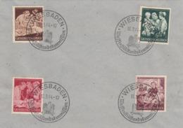 Deutsches Reich,  Mutter Und Kind, Minr. 869/72, Satz Mit Sonderstempel Auf Briefunterlage - Deutschland