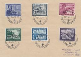 Deutsches Reich,  Kameradschaft III,  Satz Mit Sonderstempel Auf Briefunterlage - Deutschland
