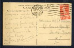 40c Semeuse Rouge : Bande Publicitaire S/lettre : EVIAN (Source CAHAT) - Publicités