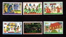ANGUILLA    1978    Christmas  Childrens  Paintings  Set  Of  6    MNH - Anguilla (1968-...)