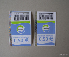HIGHWAY AUTOBAHN GAS STATION TOILET VOUCHERS X2. USED IN 2019. - Otras Colecciones