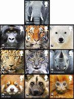 GRANDE-BRETAGNE WWF Animaux 10v 2011 Neuf ** MNH - Neufs