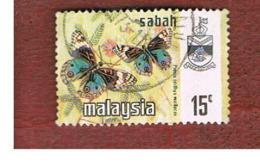 MALESIA: SABAH (MALAYSIA) -  SG 437  -  1971  BUTTERFLIES: PRECIS ORITHYA - USED ° - Malesia (1964-...)