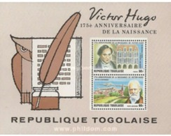 Ref. 365570 * MNH * - TOGO. 1977. 175th ANNIVERSARY OF THE BIRTH OF VICTOR HUGO . 175 ANIVERSARIO DEL NACIMIENTO DE VICT - Unclassified
