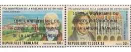 Ref. 365571 * MNH * - TOGO. 1977. 10 ANIVERSARIO DEL CONGRESO INTERNACIONAL DE LA LENGUA FRANCESA - Celebridades