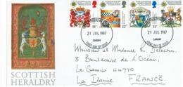 GRANDE BRETAGNE - SCOTISH HERALDRY 627/7/1987 CARDIF - Briefe U. Dokumente