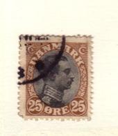 DANEMARK 1919/20 YVERT N°107 OBLITERE - 1913-47 (Christian X)