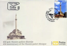 2019 FDC, The 450th Anniversary Of Husein Paša Mosque, Montenegro, MNH - Montenegro