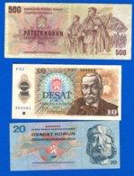 Tchécoslovaquie  6  Billets - Czechoslovakia