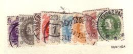 DANEMARK 1930 YVERT N°198/206 OBLITERE - 1913-47 (Christian X)