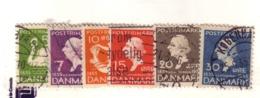 DANEMARK 1935  YVERT N°229/34  OBLITERE - 1913-47 (Christian X)