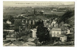 Saint Victor Sur Rhins - Chemin De Fer De St Victor à Cours - Le Viaduc - Circulé Sans Date, Sous Enveloppe - Other Municipalities