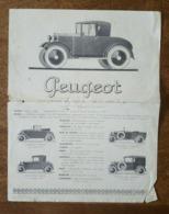Pub - Automobile Peugeot Chassis CH. Type 172 BC, Cabriolet, Fourgon, Usine De Sochaux - Voitures