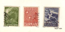 DANEMARK 1947 LIBERATION  YVERT N°308/10  OBLITERE - 1913-47 (Christian X)