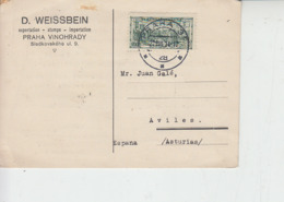 CECOSLOVACCHIA  1934 - Unificato 285 Su Cartolina - Legione - Cecoslovacchia