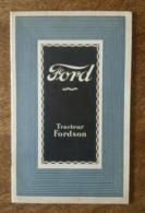 Pub - 1924 - Automobiles Ford Torpédo, Chassis & Camion Tracteur Fordson à Bordeaux - Voitures