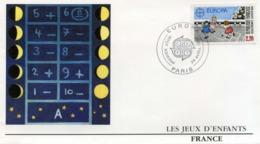 Enveloppe  1er Jour - Les Jeux D'enfants - Année 1989 - Timbre N° 2584 - Cartas