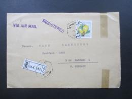 Libanon / Liban 1970er Jahre Air Mail / Registered Beirut Nach Bamberg Mit Luftpostmarke - Libanon