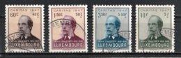 Luxembourg 1947 : Timbres Yvert & Tellier N° 402 - 403 - 404 Et 405 Oblit. - Gebruikt