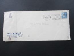 Dänemark 1940 Zensurbeleg Geöffnet OKW Zensur Firmenbrief Ulf Bang Kobenhavn - Auberbach Vogtland - Cartas
