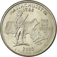 Monnaie, États-Unis, Massachusetts, Quarter, 2000, U.S. Mint, Denver, TTB - 1999-2009: State Quarters