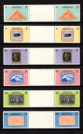 ANGUILLA    1979    Death  Centenary  Of  Sir  Rowland  Hill    Set  Of  6  Gutter  Pairs   MNH - Anguilla (1968-...)