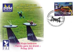 Republic Of North Macedonia/FDC/Sport/FAI WORLD CUP - FENIX DRONES - Mazedonien