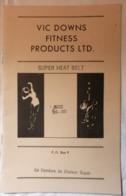 OLD FITTNES PROGRAM BROCHURE VIC DOWNS  FITTNES PRODUCTS LTD. SUPER HEALT BELT  1960's RRR - Sports