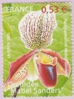 N° Yvert & Tellier 3763 - Timbre De France (Année 2005) - MNH - Série Nature - Orchidée (Mabel Sanders) - France