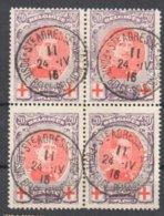 Bloc Of Four St Adresse Cancel Min 80 Euros VFU Red Cross Croix Rouge - 1914-1915 Croix-Rouge