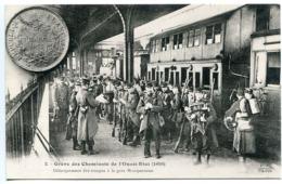 Grève Des Cheminots De L'Ouest Etat 1910 Débarquement Des Troupes à La Gare Montparnasse * Collection E.S. - Grèves