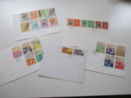 Albanien 1964 Blanko FDC Auch Int. Briefmarkenausstellung Riccione, Motive Vögel Und Olympische Sommerspiele - Albania