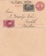 Argentina SHIP POST VAP. ARAGON POSTAL CARD TO Austria 1910 - Argentinien
