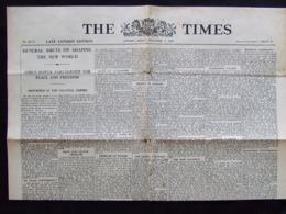 PROPAGANDE #87 WWII GUERRE 1939 1945 FAUX JOURNAL THE TIMES  PAR SERVICE PROPAGANDE FRANCAIS ?? ALLEMAND ?? - 1939-45