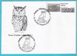 Poland 2019, St. PIEKARY Cover, Owl, Hibou, Eule , Birds, Oiseau - Eagles & Birds Of Prey
