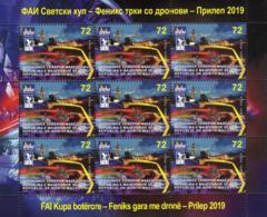 Republic Of North Macedonia/Mini Sheet/Sport/FAI WORLD CUP - FENIX DRONES - Mazedonien